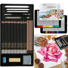 Professional 29-Pcs Sketching Drawing Art Tool Kit Pencils Beginners Great Gift