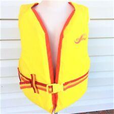 Kent Sea Sense Life Vest Jacket Yellow Orange Youth 50-90 LBS USCG Approved
