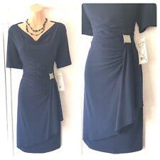Joseph Ribkoff Short Sleeve dark Nevy Stretchy New Dress Size 14