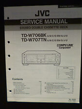 Original Service Manual   JVC  TD-W706BK TD-W707TN