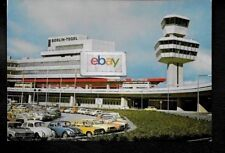BERLIN TEGAL AIRPORT FLUGHAFEN FRONT OF TERMINAL VIEW BA BUS POSTCARD