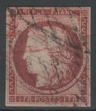 "FRANCE STAMP TIMBRE N° 6 "" CERES 1F CARMIN 1849 "" OBLITERE TB A VOIR  P262"