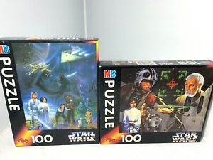 2x 1994 Vintage Star Wars 100pc Puzzles (Missing Pieces) MB