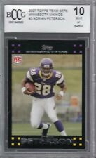 2007 ADRIAN PETERSON TOPPS TEAM SETS ROOKIE CARD #5 OF 12 RC BCCG MINT 10