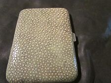 Fabulous Antique Rare Argentan Silver & Origional Shagreen Cigarette/Card Case