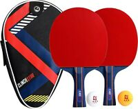 Table Tennis Ping Pong Professional Set 2 Paddles 2 Balls and Organizing Case