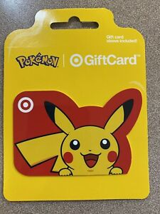 SPECIAL POKEMON WITH SLEEVE TARGET EXCLUSIVE GIFT CARD MINT