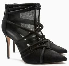 NEXT Black Suede Leather & Mesh Cage Shoe BOOTS Size UK 5