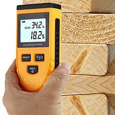 Digital LCD Wood Moisture Meter Temperature Humidity Tester Induction Hygromete