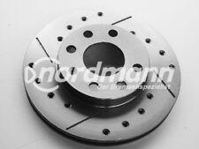 2 discos freno deportivos Perforado y Ranurado von intercar AUS ITALI para OPEL