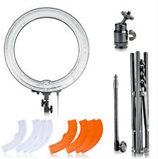 "18""Diameter 75W Camera Studio 5500K Ring Dimmable Flash Light Kit w light stand"