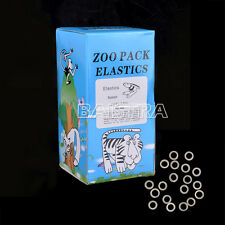 "Dental Orthodontic Elastic (Rabbit) Force 3.5 OZ,3/16"" 5000PCS/Bag Zoo Blue 88AS"