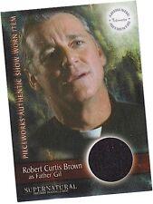 Supernatural Season 3: PW-12 Robert C Brown - Father Gil Shirt Pieceworks Card