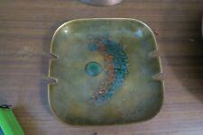 "Vintage Bovano enamel on copper Ashtray Trinket Dish Mid Century Modern Plate 6"""