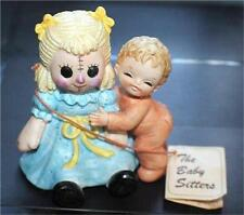 "Vintage George Good Porcelain The Babby Sitters 3 1/2""h Rag Doll Figurine"