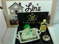 Reutter porcelain Dolls House 1:12th Scale Gin & Tonic Set 17618 New