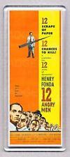 12 ANGRY MEN movie poster TALL FRIDGE MAGNET- HENRY FONDA classic!