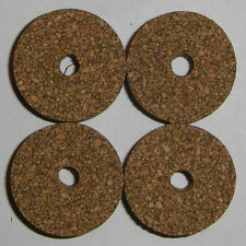 """4 Brown Spotted Rubberized Rubber Cork Rings 1 1/4"""" D x 1/2"""" H x 1/4"""" I.D."""