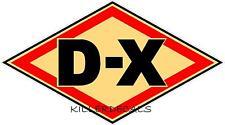 "24"" CREAM DX D-X GASOLINE DECAL GAS AND OIL GAS PUMP SIGN, WALL ART STICKER"
