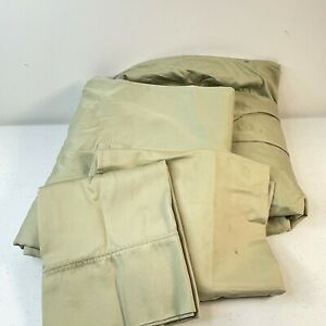 springmaid queen solid green sheet set egyptian cotton modern