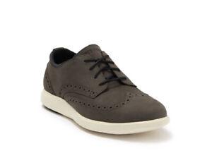 Men Cole Haan Grand Plus Essex Wedge Wingtip Oxfords Shoes Black Olive C31687