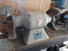 Vintage Baldor 7 Bench Grinder Motor Missing Flanges Covers Switch Arbor Nuts