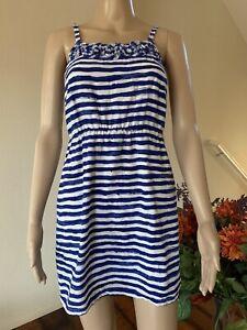Ann Taylor Loft Women's Size 2P Blue Swim Suit Cover up