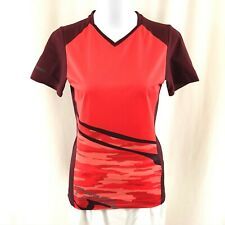 Pearl Izumi Womens Launch Jersey Short Sleeve Camouflage Red Burgundy Size XS
