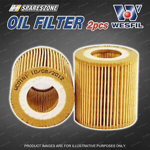 2 x Wesfil Oil Filters for Mazda BT 50 UP 2.2L 3.2L TDCi Turbo Diesel 10/11-on