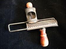 Antique Spring Action Punched Tin Nutmeg Spice Grater Grinder Primitive Kitchen