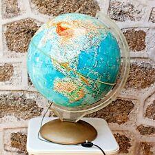 V. Large French Vintage 1964 Illuminated Terrestrial Globe PROLOISIRS Made Italy