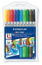 10 x Staedtler Noris Club Double-Tip Felt Tip Pens Double Ended Fibre Tip Pens