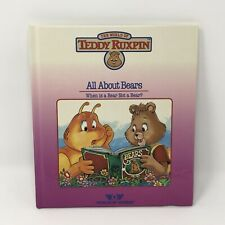 Teddy Ruxpin The Story of All About Bears Hc Book Only Vintage 19 00004000 85