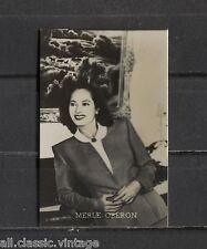 Merle Oberon Vintage Photo Trading Card Universal Belgian Chewing Gum 1950s