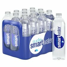 Glaceau Smartwater Pack of 24 Natural Spring Mineral Water 600ml Plastic Bottle