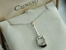 Clogau Silver & 9ct Rose Gold 'Wales Polo' Horse Themed Pendant RRP £149.00