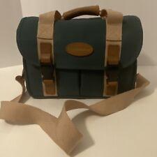 Quantaray Green & Tan Shoulder Strap Camera Case Bag Heavy-duty Compartments