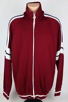 Vintage Wilson Athletics Mens XL Red/Cranberry Full Zip Track Sweatshirt Jacket
