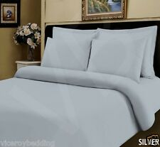 Pair of Silver 100 Pure Egyptian Cotton 400 Thread Count Housewife Pillow Cases