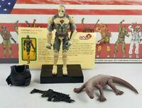 Original 2003 GI JOE SAND VIPER V1 UNBROKEN figure ARAH COMPLETE 2 pack COBRA