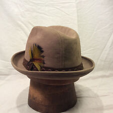 080561d8132 Brown Stevens Suede Fedora Men s Hat with Chocolate Brown Band -- Size 7 ...