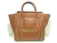 Auth CELINE Luggage Mini Shopper 181453AUS.19TO Brown Leather Tote Bag