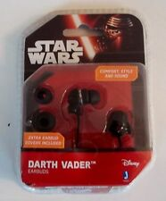 DISNEY-STAR WARS-DARTH VADER-EARBUDS,HEADPHONES-iPOD,iPHONE w/EXTRA BUD COVERS!!
