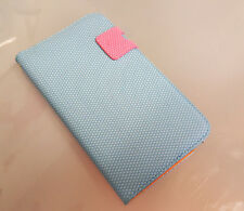Magnetic Folio Flip Blue Leather Case Cover For Samsung Galaxy N7100