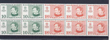 Greenland 1977 Booklet Pane Stamps # 91a Mnh Cv $38 Free Ship after 1st Lot