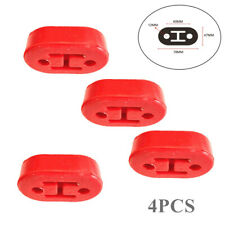 4PCS Red Car SUV Rubber Exhaust Hanger Pipe Mount Mounting Bracket 11mm Holes