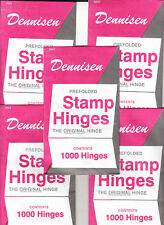 5 UNOPENED PACKS OF DENNISEN STAMP HINGES 1000 FOLDED LOWEST PRICES ON EBAY