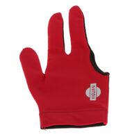 Nylon Three Finger Right Hand Snooker Billiard Cue Pool Glove - Red