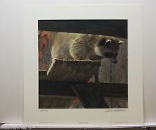 Robert BATEMAN The Prowler - Raccoon LTD art print MINT certificate AP 3/76