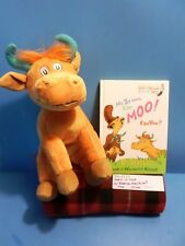 "Kohl's Dr Seuss Mr. Brown Can Moo ,Can You ""Cow""plush and book(310-2235)"